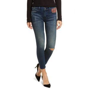 Current/elliott Plaid Pocket Skinny Jeans